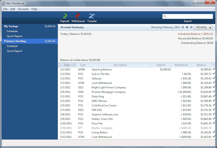 My Checkbook Remote Setup - Surprise Software Help